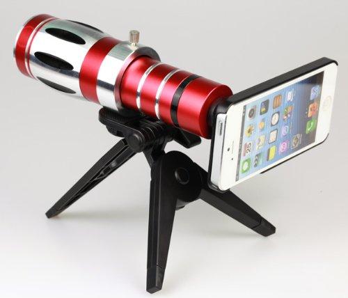 20 Optical Zoom Aluminum Telescope Lens Camera Telephoto Lens for Iphone 5 5s