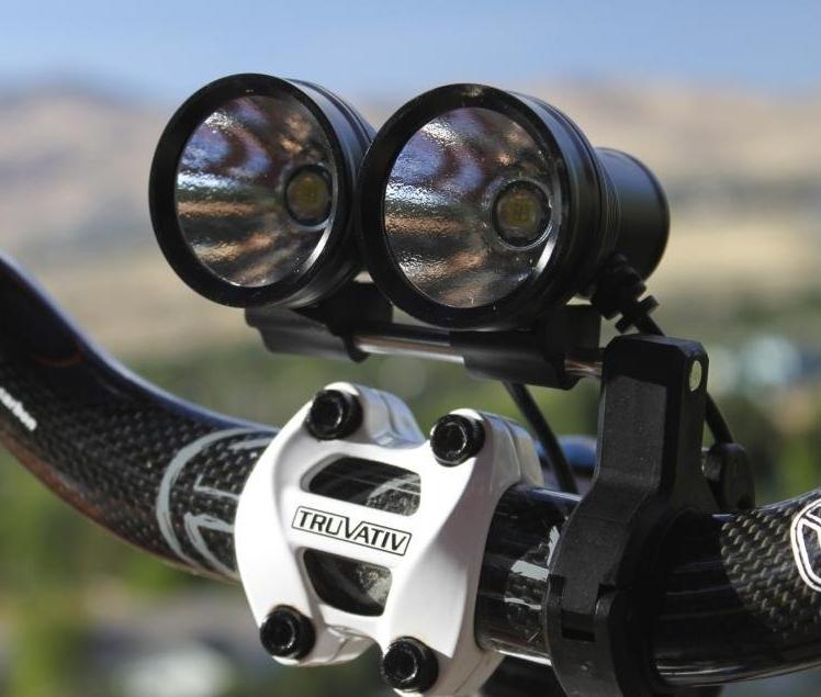 Dual Beam bicycle light kit