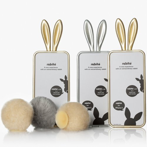 Gold Bunny Rabbit Ears Design iPhone 5S  5
