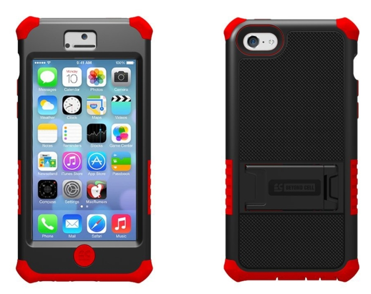 Hard ShellSilicone Case with Built-In Kickstand for Apple iPhone 5C Lite