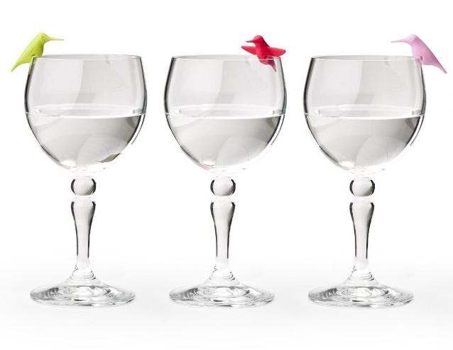 Hummingbird Party Glass Tag