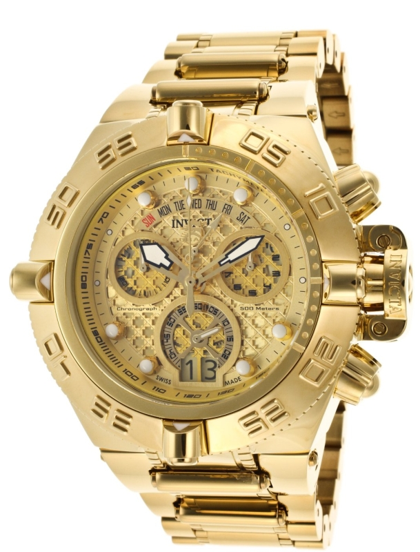 Invicta MenDial 18k Gold Ion-Plated Stainless Steel Watch