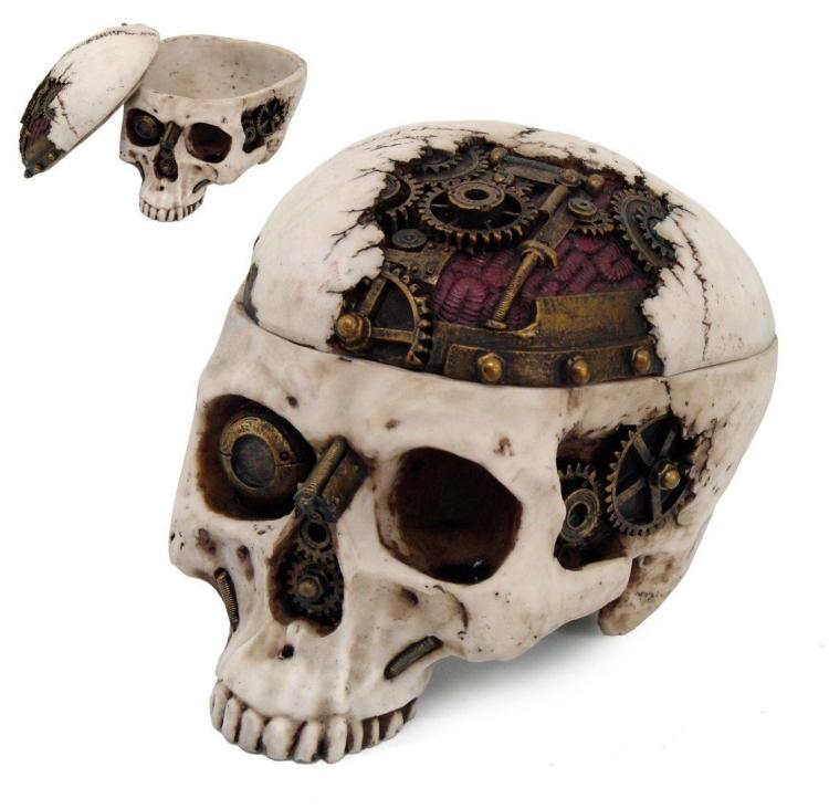 Skull Skeleton Jewelry Trinket Box