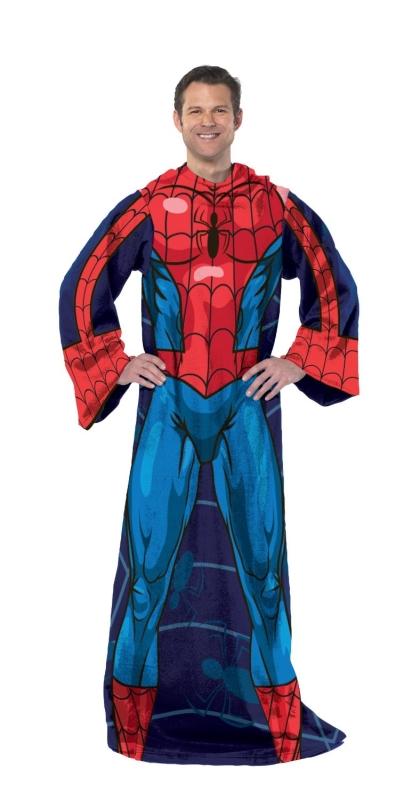 Spiderman-Blue on Blue Adult Fleece Panel Print Comfy Throw
