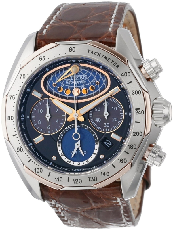 The Signature Collection EcoDrive Moon Phase Flyback Chronograph Watch