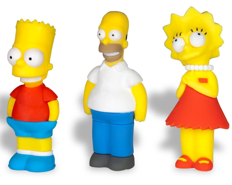 The Simpsons 3 Pack 8GB USB Flash Drive
