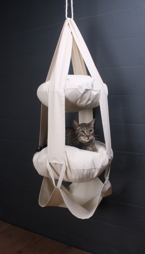 Trapeze Double Tiered Suspended Cat ClimberLounge