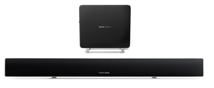 Ultra-Slim Home Entertainment Soundbar with Compact Subwoofer