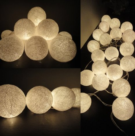 White Globe Ball Fairy Lights