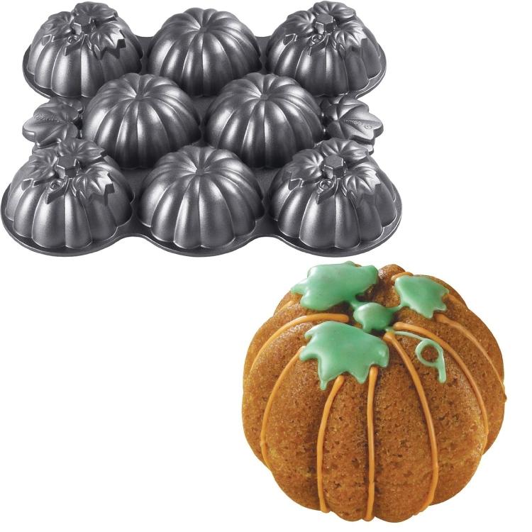 Wilton Mens Mini Pumpkins Cake Pan with Multi-Cavities