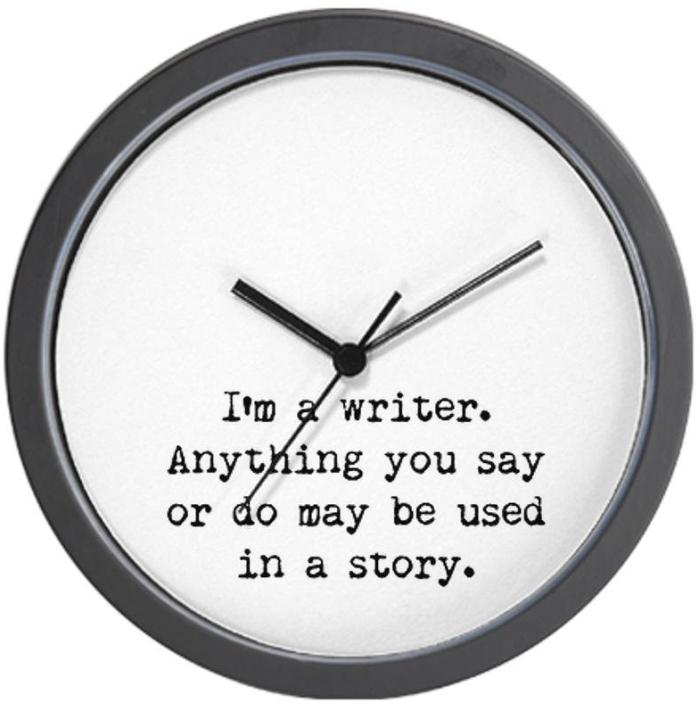 Writers Miranda Wall Clock