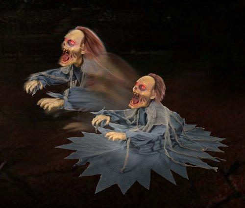 ZOMBIE REAPER Animated Animatronic Scary Jumping Halloween