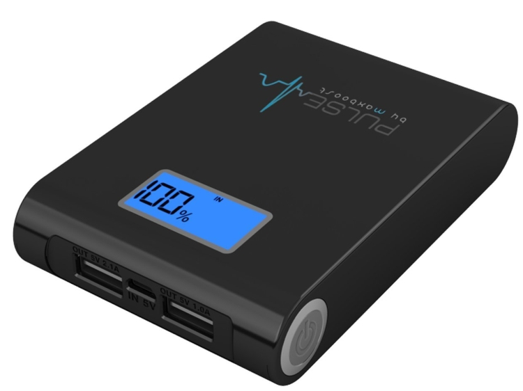 10000mAh Dual 5V 3A USB External Portable Power Battery Pack Charger with Digital Display