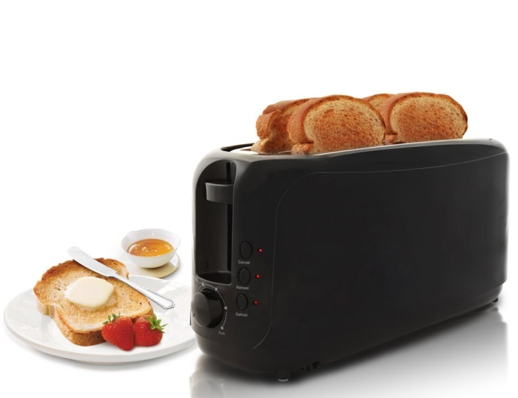 4 Slice Long Slot Cool Touch Toaster
