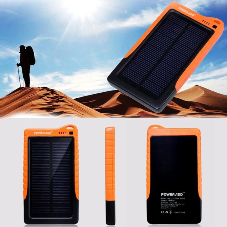 7200mAh High Capacity Solar Panel Portable Charger Backup Battery