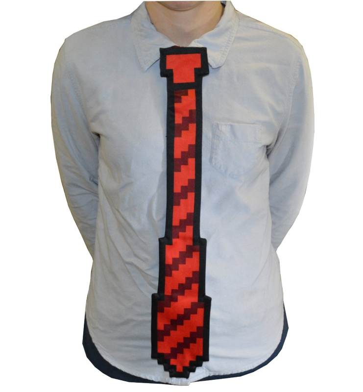 8-bit Tie One Size Fits All Clip On Red