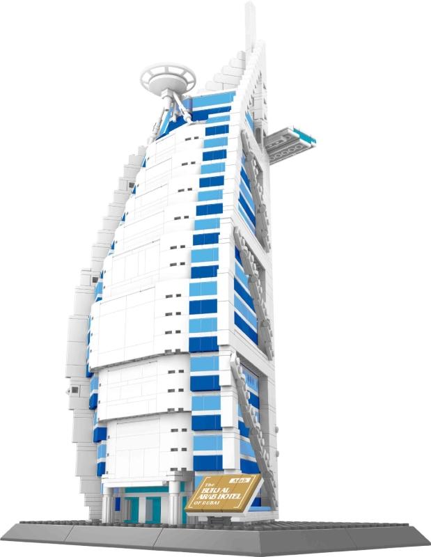 BURJ AL ARAB hotel of Dubai BUILDING BLOCKS