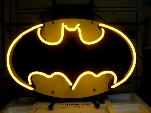 Batman Action Hero Beer Bar Neon Light Sign