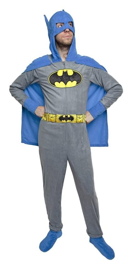 Batman Adult Hooded One Piece Pajama