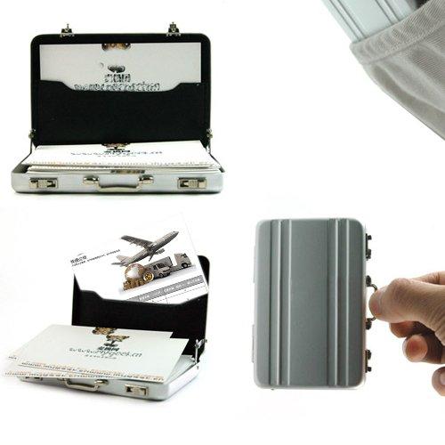 Briefcase Business Card Case Coin Case Aluminium Credit Card Holder