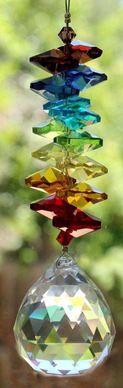 Chakra 30mm Rainbow Maker Home Ornament Glass