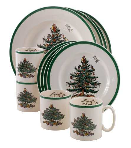 Christmas Tree 12-Piece Dinnerware Set