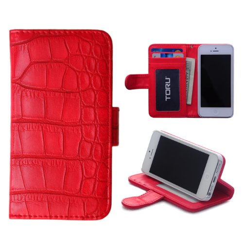 Credit Card Wallet Case with Stand for iPhone 5  5S