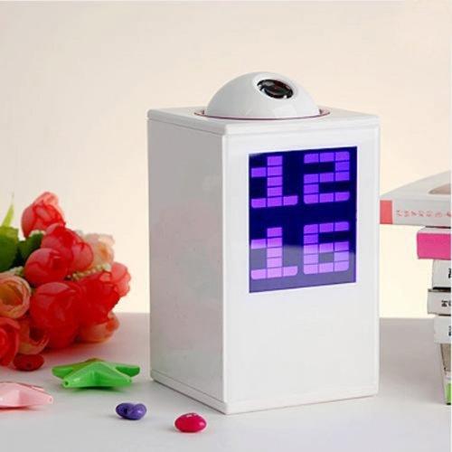 Digital LED Laser Projector Projection Alarm Clock