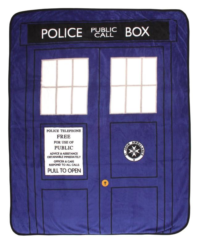 Doctor Who Tardis Phone Booth Micro Raschel Throw Blanket