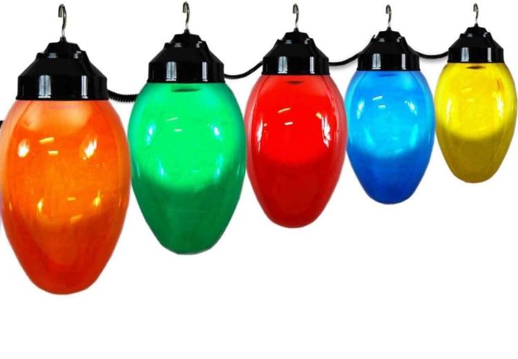 Giant Christmas Bulb Six Globe String Light Set
