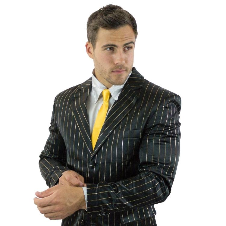 How I Met Your Mother Black  Gold Pinstripe Suitjamas