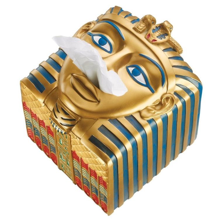 King Ah-Ah-Choo Egyptian Tissue Box Cover