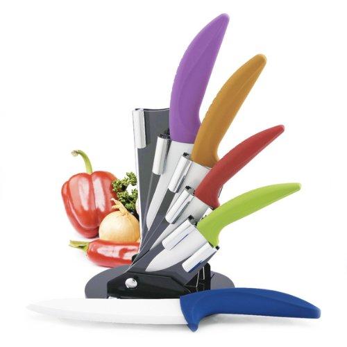 Modern Block Color Ceramic Cutlery Set with Grip Handles