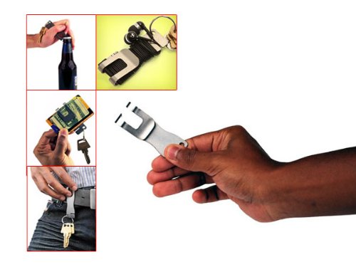 Multifuntional Stainless Steel Metal Bottle Opener Keychain