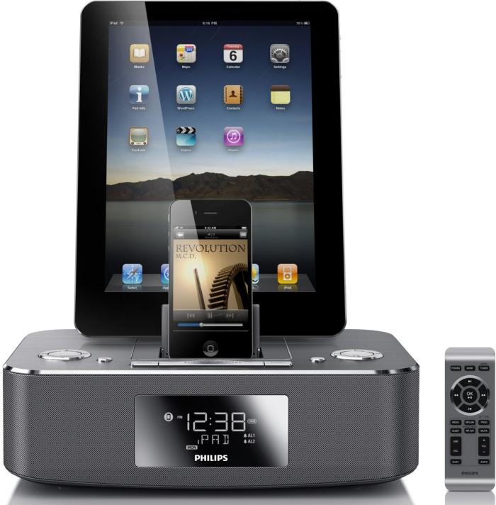 Philips Pad Alarm Clock Speaker Dock