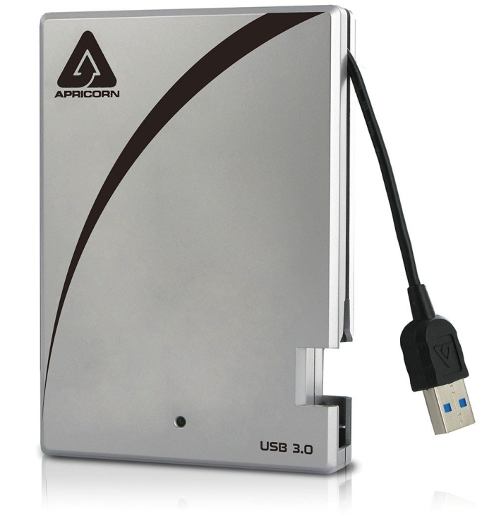 Portable 3.0 USB 1 TB Drive with Integrated USB Cable