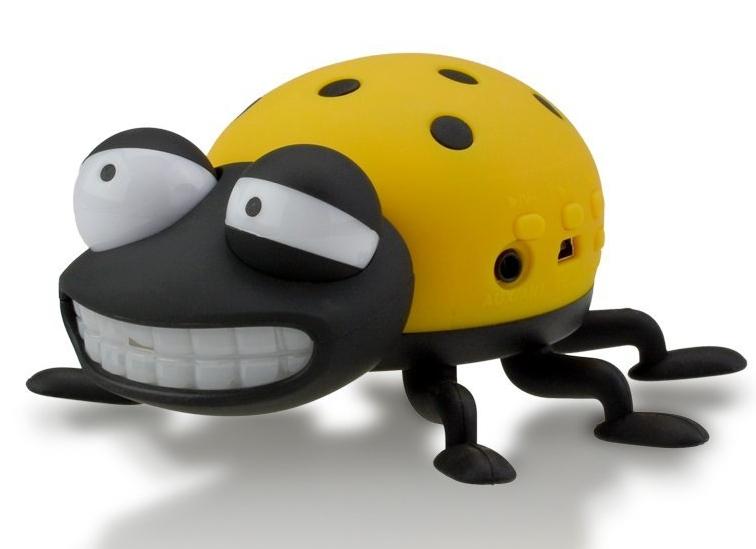 Portable Cartoon Ladybug Mini SD USB Speaker