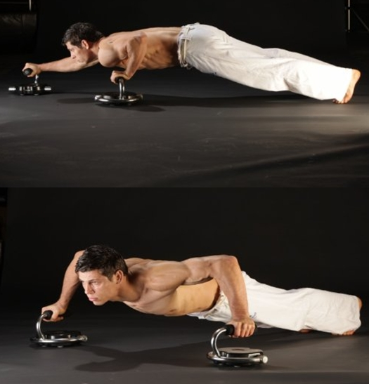 Pushup Handles with Wheels