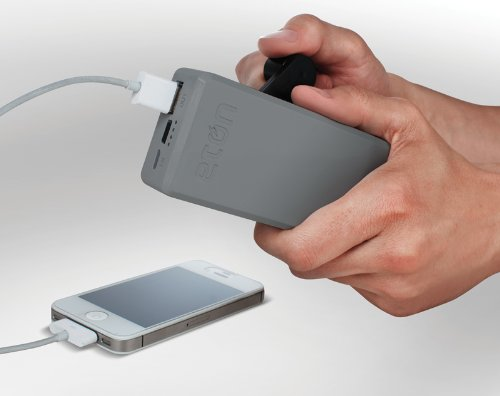 Rechargable USB Battery Pack with Hand Turbine Power Generator