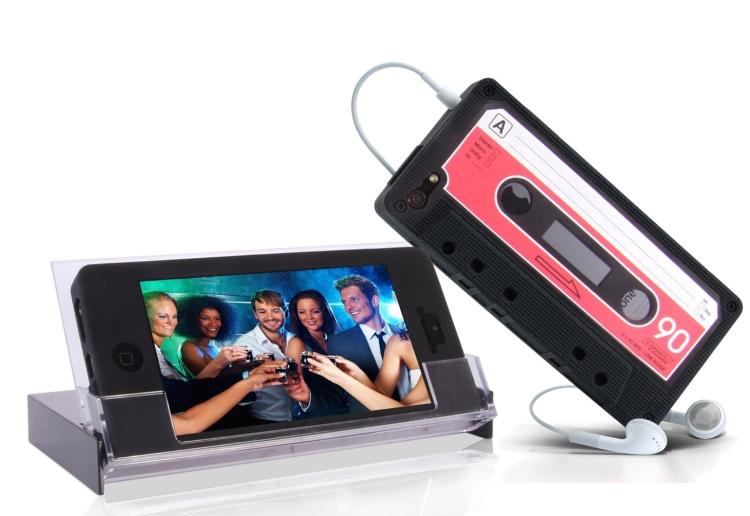 Retro Black Cassette Case for iPhone 5