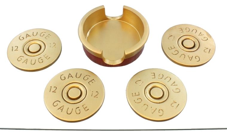 Shotgun Shot Shell Coaster Set - 4 Coasters
