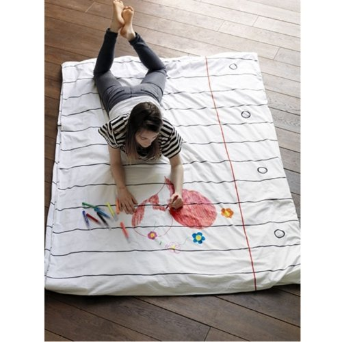 Stitch Draw-On-Wash-Off Duvet Cover