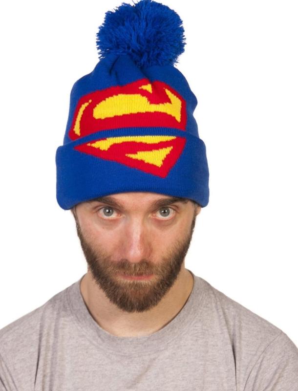 Superman Logo Oversized Bobble Hat
