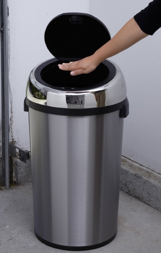 Touchless Stainless Steel 7.9 Gallon Trash Can