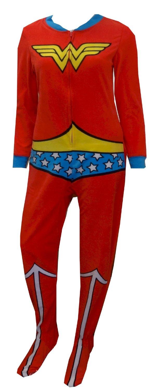 Wonder Woman Fleece Onesie Footie Pajama for women