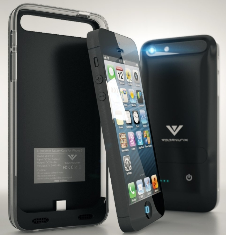 Black Battery 2400mah Charger  Case for Iphone5  5s