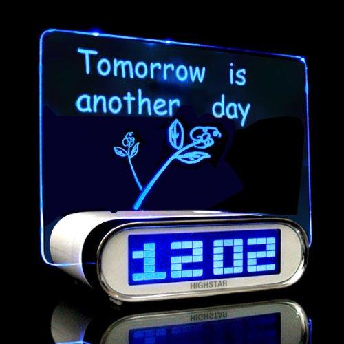 Blue Light LCD Digital Screen Memo Time USB