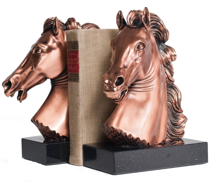 Copper Horse Bust Bookends