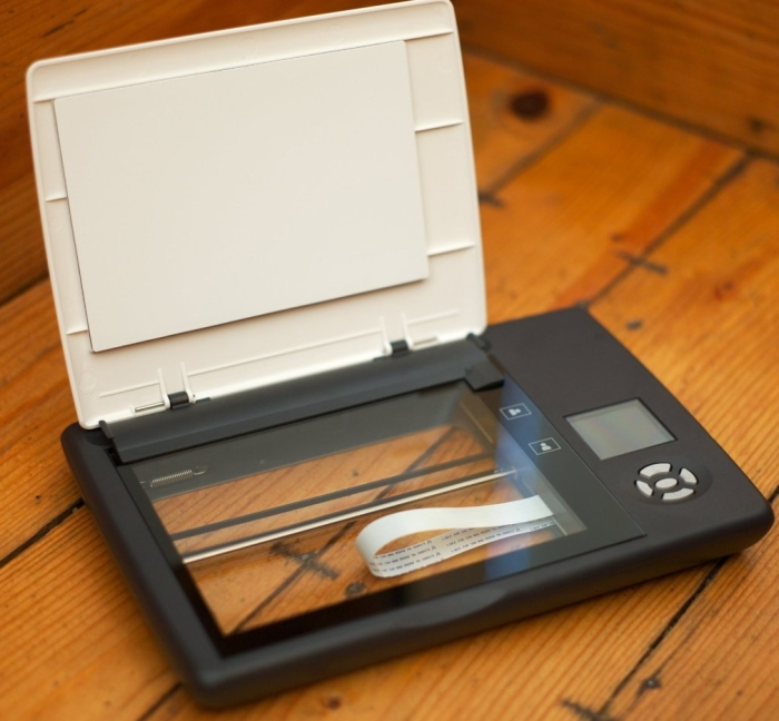 Cordless Flatbed Photo Notebook Scanner w Removable Lid