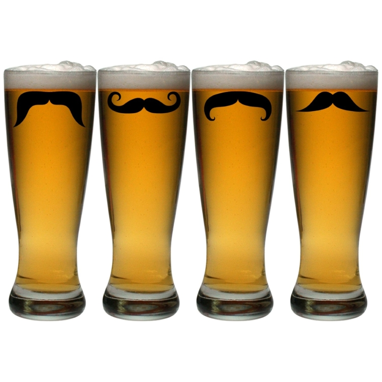 Glass Moustaches Grand Pilsner Glass